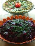 Kommen salade royalty-vrije stock foto