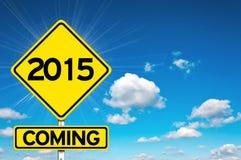 2015 kommend Stockfotos