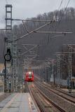 Kommender Zug Stockfotografie