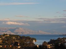 Kommeno Bay on Corfu Stock Photo