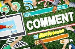 Kommentar-Beitrags-Anteil-Social Media-Konzept stockfotos
