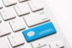 Kommentar ENTER-Taste stockfoto