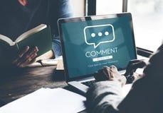 Kommentar-on-line-Gesprächs-Mitteilungs-Konzept lizenzfreie stockfotos