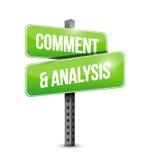 kommentar- och analysgatatecken arkivfoton