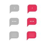 Kommentarsymbol Vektor Illustrationer
