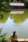 Kommer fiske Arkivbilder