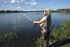 kommer fiske royaltyfri foto