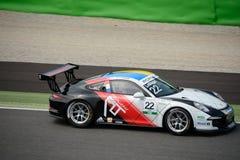 Kommer Ledogar, den Porsche Carrera koppen 2015 på Monza Royaltyfri Fotografi