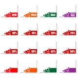 kommers corners e-erbjudanden vektor illustrationer