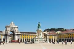 Kommers kvadrerar i Lisbon Royaltyfri Fotografi