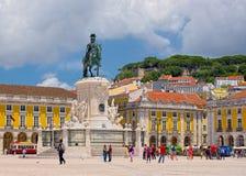 Kommersfyrkant av Lissabon Royaltyfria Bilder
