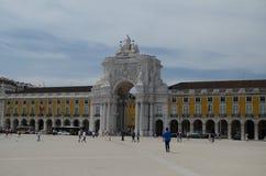 Kommersfyrkant, Lissabon, Tm Wurl Arkivfoto