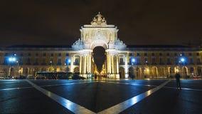 Kommersfyrkant (Praca gör Comercio), i Lissabon, Portugal Arkivfoto