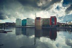 Kommersiell byggnad i Sverige Royaltyfri Fotografi