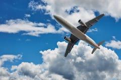 Kommersiell flygplanjetflygplan Royaltyfri Fotografi