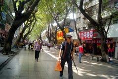 Kommersiell fot- gata för Shenzhen xixiang, i porslin Royaltyfria Bilder