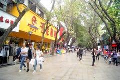 Kommersiell fot- gata för Shenzhen xixiang, i porslin Fotografering för Bildbyråer