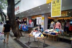 Kommersiell fot- gata för Shenzhen xixiang, i porslin Royaltyfria Foton
