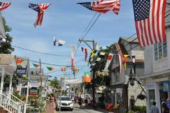 Kommersiell gata i Provincetown, Cape Cod i Massachusetts Royaltyfria Bilder