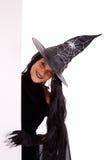 kommersiell halloween meddelandehäxa Arkivbilder