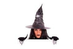 kommersiell halloween meddelandehäxa Royaltyfria Foton