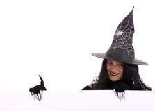 kommersiell halloween meddelandehäxa Arkivfoto