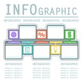 Kommersiell infografic bakgrund Arkivbilder