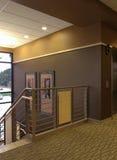 kommersiell lobbytrappa för affär Arkivfoton