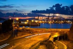 Kommersiell port Arkivfoto