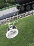 Kommersiell pumplastbil för septiskt system Arkivbilder