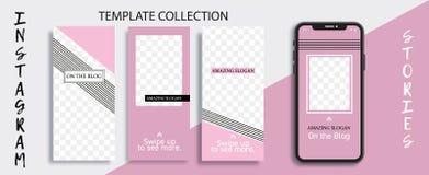 Kommersiell redigerbar Instagram berättelsemall Mall för socialt massmedianätverk försäljning tryckning stock illustrationer