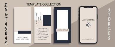 Kommersiell redigerbar Instagram berättelsemall Mall för socialt massmedianätverk försäljning tryckning vektor illustrationer