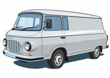 kommersiell skåpbil Arkivbild