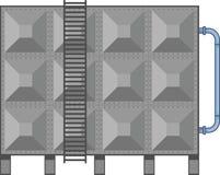 Kommersiell vektor för vattenbehållare arkivbilder