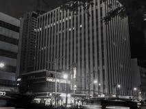 Kommersiella byggnader längs Maria Orosa Avenue i Manila Arkivfoto