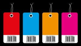kommersiella etiketter Arkivbild