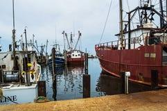 Kommersiella fiskebåtar Fotografering för Bildbyråer