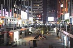 Kommersiella kvarter för Peking på natten fotografering för bildbyråer