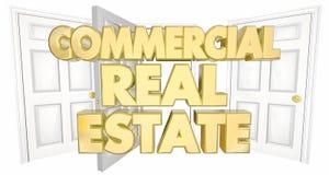 Kommersiella ord Real Estate för öppna dörrar Royaltyfri Illustrationer