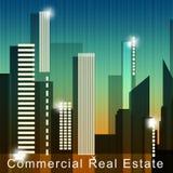 Kommersiella Real Estate betyder den egenskapsSale 3d illustrationen Arkivfoton