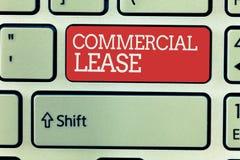 Kommersiellt arrende för ordhandstiltext Affärsidéen för ser till byggnader eller land påtänkta för att frambringa en vinst vektor illustrationer