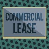 Kommersiellt arrende för ordhandstiltext Affärsidéen för ser till byggnader eller land påtänkta för att frambringa en vinst royaltyfri illustrationer