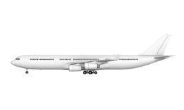 Kommersiellt flygplan royaltyfri illustrationer