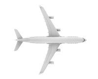 Kommersiellt flygplan vektor illustrationer