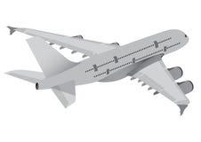Kommersiellt flygplan Royaltyfria Bilder