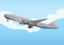Kommersiellt flygplan Royaltyfria Foton