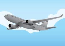 Kommersiellt flygplan Arkivfoton