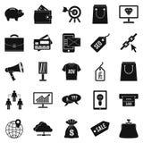 Kommersiellt lönande symbolsuppsättning, enkel stil royaltyfri illustrationer
