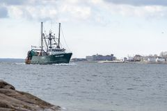 Kommersiellt Megan Marie för fiska skyttel kommande fort Phoenix royaltyfria foton