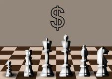 Kommersiellt schack stock illustrationer